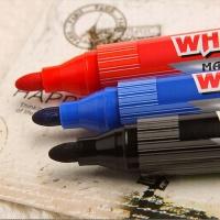 宝克(BAOKE) 可加墨白板笔 红色 12支装 办公 学生 文具