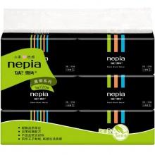 妮飘/Nepia 黑郁抽取式面巾纸 3层120抽*6包